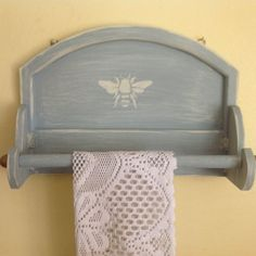 Paper towel holder shabby chic upcycled wall by FrenchCountryLove, $35.00