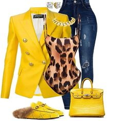 Date Worn: Leopard Tank With Yellow Casual Cardigan &Tobacco Flats & Gold Accessories. Love Fashion, Autumn Fashion, Fashion Looks, Womens Fashion, Mode Outfits, Fall Outfits, Fashion Outfits, Classy Outfits, Stylish Outfits