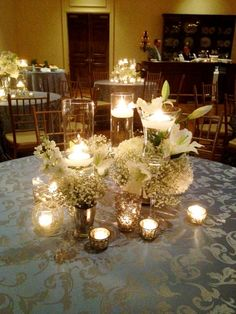 I LOVE these centerpieces!!