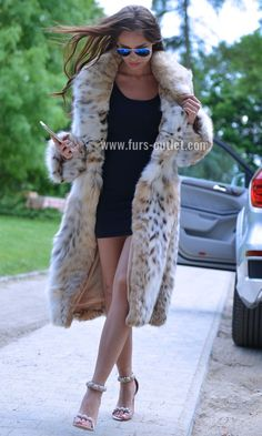 NEW LYNX FUR COAT CLASS JACKET MINK FOX CHINCHILLA VEST RUSSIAN SABLE LONG CITES | eBay