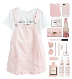 381. C U T E by choosemaknae on Polyvore featuring polyvore, fashion, style, So.Ya, Huda Beauty, Gucci, Herbivore, Forever 21, Shinola and clothing