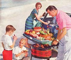 A 1959 suburban cookout.