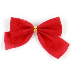 10Pcs Ribbon Christmas Decoration Bows Glitter Ribbon Bow Decoration Christmas Arvores De Natal Grande Christmas Ornament