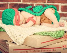 Crochet Teenage Mutant Ninja Turtle Inspired Baby Photo Prop Set