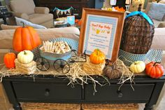 Pumpkin Baby Shower #pumpkin #babyshower. Love!!
