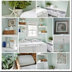 My obsession w white continues.. Laundry room