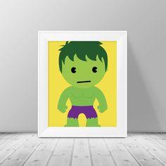 Super Hero Decor  The Hulk Print  Superhero by SimplyLoveCreations