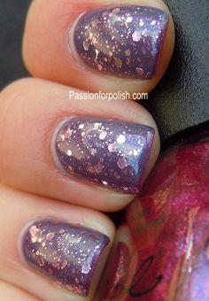 glitter polish layering