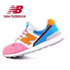 special offer New Balance 996 Blue Yellow Pink White Womens Shoes Cheap New Balance, New Balance 996, New Balance Women, New Balance Sneakers, New Balance Shoes, Blue Yellow, Pink White, Sneakers For Sale, Quasar