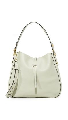 0258aeb3fa90 MICHAEL Michael Kors - White Evie Large Leather Shoulder Tote - Lyst ...