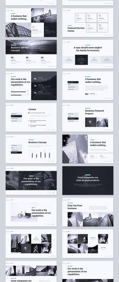 KOPA Business Template — Presentation on design Flat Web Design, Ppt Design, Design Plat, Keynote Design, Powerpoint Design Templates, Design Brochure, Slide Design, Icon Design, Booklet Design