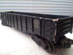 Vintage Lionel NYC Black Gondola Car #6462 1947 Good Condition