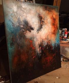 Galaxy Painting, Galaxy Art, Abstract Expressionism, Abstract Art, Acrylic Art, Painting Inspiration, Art Images, Painting & Drawing, Art Projects