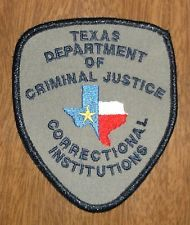 Obsolete Patch Texas Department of Criminal Justice Correctional Institutions