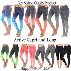Activewear Full Length Leggings Yoga Pants Gym Fitness Workout Gradient Print