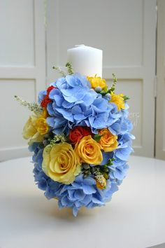 Flowers of Soul: Lumanari de cununie Decorative Candles, Wedding Flowers, Bouquet, Nails, Business, Bodas, Finger Nails, Ongles, Bunch Of Flowers