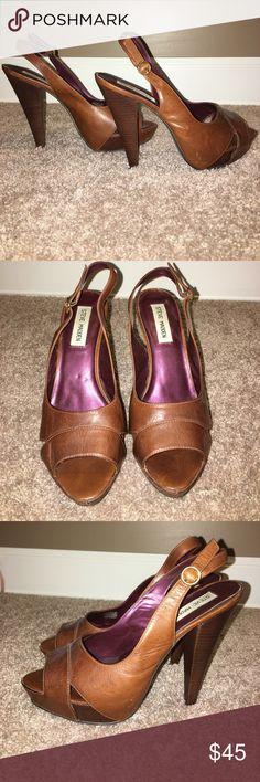 Steve Madden High Heel Sandals • brown High Heel Sandals Steve Madden Shoes Heels