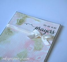 CASology weekly card challenge. Cue - Pretty. Watercolor, embossing, sending my prayers...