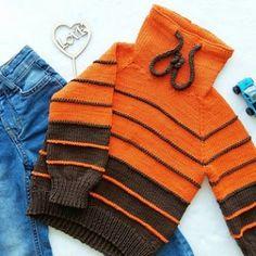 sweatshirt - بلوزات صبياني - Ravelry: sweatshirt pattern by Tamara Voevodina - Knitting For Kids, Crochet For Kids, Knitting Socks, Baby Knitting, Baby Pullover, Baby Cardigan, Pull Bebe, Ravelry, Knitted Baby Clothes