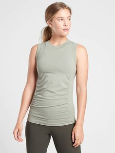 Foresthill Ascent Tank | Athleta Sage Color, Workout Attire, Muscle Tanks, Casual Wear, Merino Wool, Wool Blend, Style Me, Basic Tank Top, Athletic Tank Tops