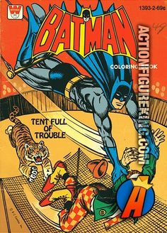 Vintage 1979 Batman Coloring Book Tent Full Of Trouble From Whitman