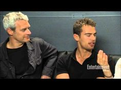 Entertainment Weekly Divergent interview Comic Con with Theo James (Four/Tobias), Shailene Woodley (Beatrice/Tris Prior), Veronica Roth (Author), and Neil Burger (Director)