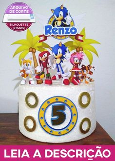 Sonic Birthday Cake, Sonic Birthday Parties, Sonic Party, Birthday Cupcakes, Bolo Sonic, Sonic Cake, Sonic The Hedgehog Cake, Conversation Starters For Kids, Diy Cake