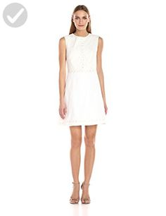 Ted Baker Women's Olara Daisy Lace Detail Shift Dress, White, 5 - All about women (*Amazon Partner-Link)