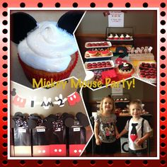 Mickey Mouse party Goodie bags, cupcakes & shirt!