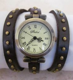 This unique Vintage Bronze Watch is made with a real, high quality dark brown stable leather band. This unique Bracelet Watch, designed especially for you and your beloveds, and can be a perfect gift for you and for your family and friends.