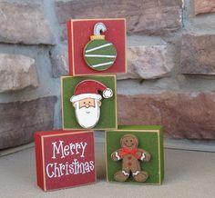 Christmas Crafts To Make, Christmas Art, Christmas Themes, Holiday Crafts, Vintage Christmas, Christmas Ornaments, Christmas Displays, Wood Ornaments, Rustic Christmas