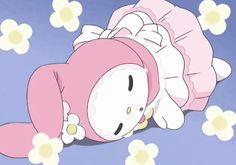 "qtgasm: ""cute little my melody…. she sleep "" Sanrio Hello Kitty, Hello Kitty My Melody, Chibi, Looney Toons, Sanrio Wallpaper, Cartoon Memes, Cartoons, Dibujos Cute, E Dawn"