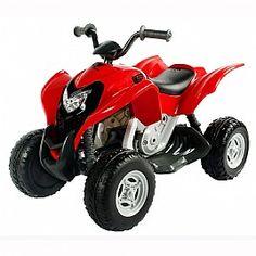 טרקטורון ממונע בטיחותי לילד Honda ATV שחור אדום