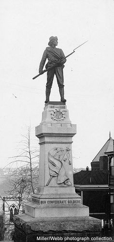 Confederate Monument in Lynchburg, Virginia - Adam H. Plecker photograph From the Miller/Webb photograph collection. This image is part of the RetroWeb Visual History of Lynchburg, Virginia Confederate Statues, Confederate Monuments, Confederate States Of America, Famous Monuments, Historical Monuments, American Civil War, American History, Southern Heritage, Southern Men