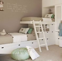 Kids' bedroom! Bunk bed idea...minus it being in spanish