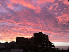 This London sky greeted me as I woke up one morning.