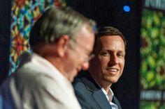 Transcript: Schmidt and Thiel smackdown The Incredibles, Couple Photos, Reading, Brainstorm, Startups, Aspen, Google, Innovation
