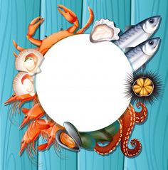 Fresh Seafood, Arte Pop, Displaying Collections, Vector Photo, Iphone Wallpaper, Graphic Art, Vector Freepik, Background Banner, Vector Background