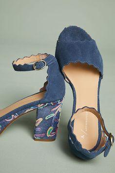 Slide View: 2: Anthropologie Scalloped Platform Heels