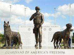 U.S. military dedicates first national monument to combat dogs