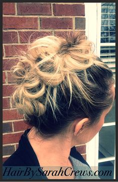 Monday's easy bunhawk. www.hairbysarahcrews.com