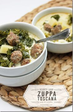 Zuppa Toscana Soup - sausage, kale, russet potatoes - a hearty veggie filled soup perfect for a cool day | @mamamissblog #zuppatoscana #soup #slowcooker