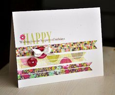 Use patterned paper scraps as banners.  By Maile Belles