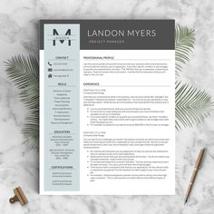 Modern Resume Template For Word And Pages (1, 2 U0026 3 Page Resumes + Cover  Letter + Icons) | Creative Resume Template | Instant Download CV