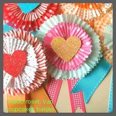 roset van cupcakes papier