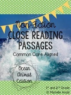 This 16 page product contains 4 ocean-themed non-fiction close reading articles with evidence-based questioning sheets to go with each. Great to use as a whole group lesson or in small group reading. The articles are about the following animals:-hermit crabs-dolphins-jellyfish-sharksI introduce the product with examples of how I use the articles in my personal classroom.