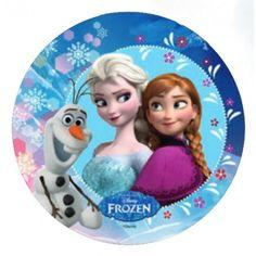 Tortenaufleger Disney Frozen Eiskönigin Anna, Elsa, Olaf 21cm