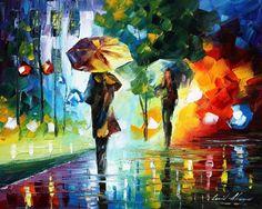 DREAMS OF THE RAIN - PALETTE KNIFE Oil Painting On Canvas By Leonid Afremov - http://afremov.com/DREAMS-OF-THE-RAIN-PALETTE-KNIFE-Oil-Painting-On-Canvas-By-Leonid-Afremov-Size-16-x20.html?bid=1&partner=20921&utm_medium=/vpin&utm_campaign=v-ADD-YOUR&utm_source=s-vpin