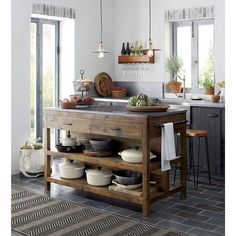 Add more storage to your space with kitchen islands and carts from Crate and…