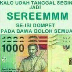 Tanggal tua isi dompet, gambar parang semua.... Seereeem😂😂😂